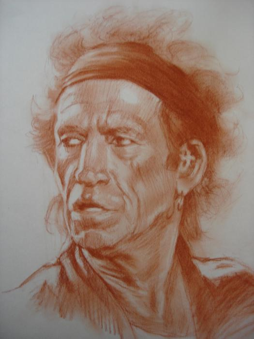 Keith Richards by ceceach